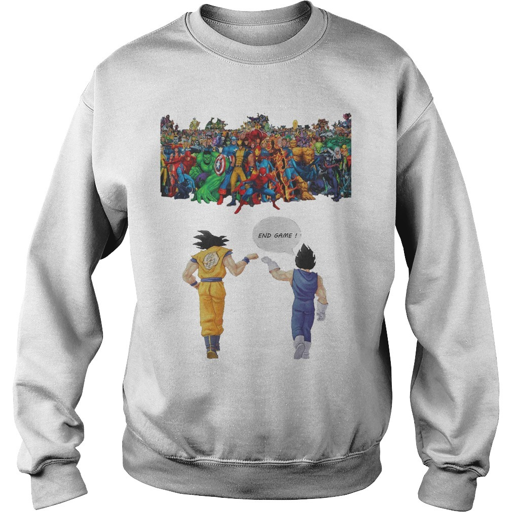 Avengers Son Goku and Vegeta End Game Sweater