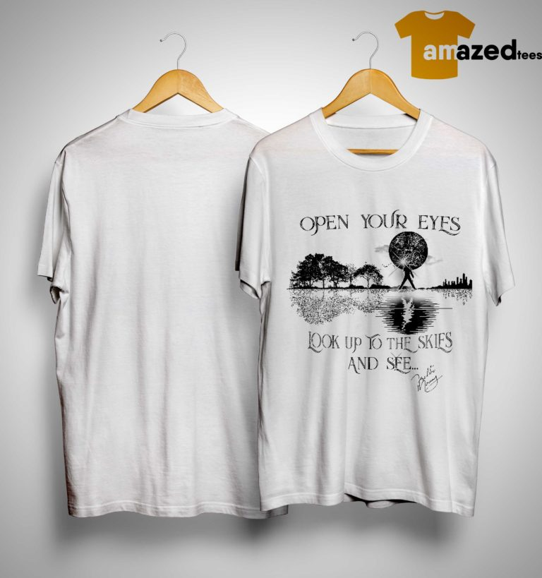 Black And White Freddie Mercury Open Your Eyes Look Up To The Skies And See Shirt