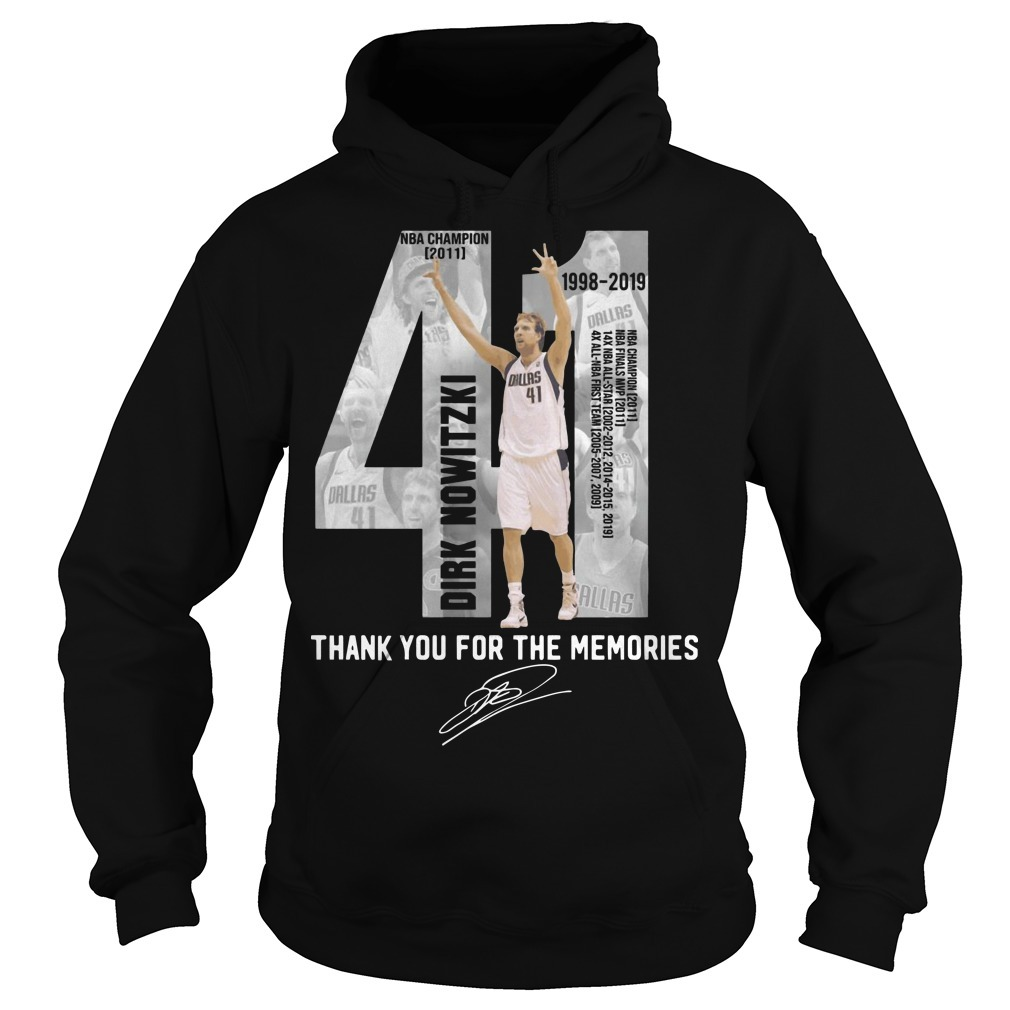Dirk Nowitzki 41 Thank You For The Memories Hoodie