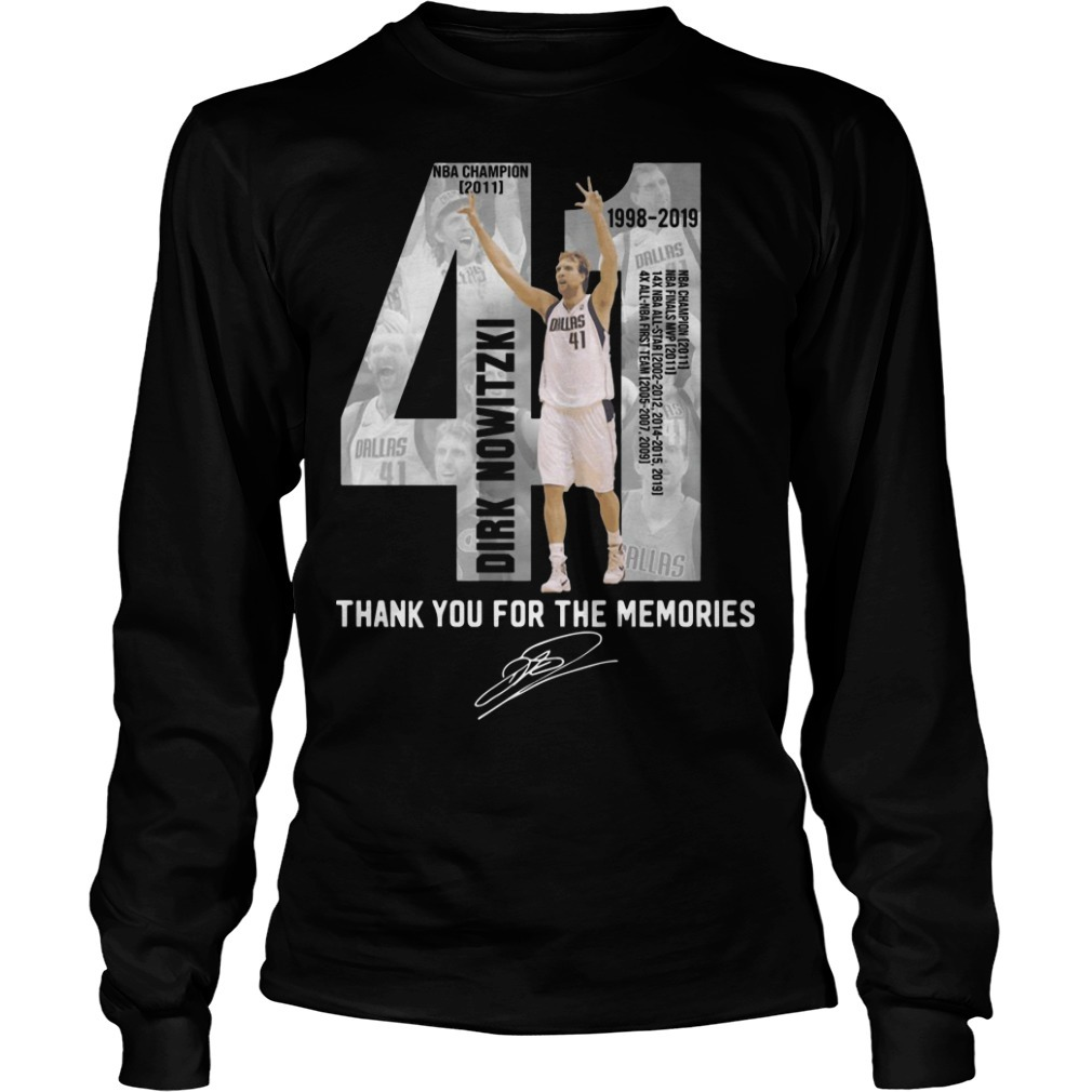 Dirk Nowitzki 41 Thank You For The Memories Longsleeve Tee