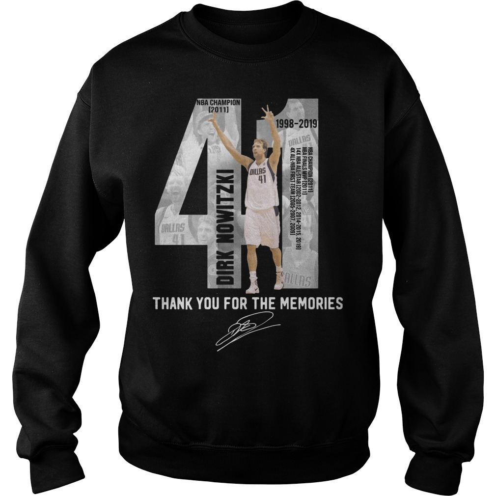 Dirk Nowitzki 41 Thank You For The Memories Sweater