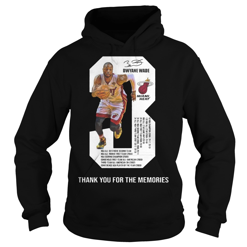 Dwyane Wade 3 Thank You For The Memories Hoodie