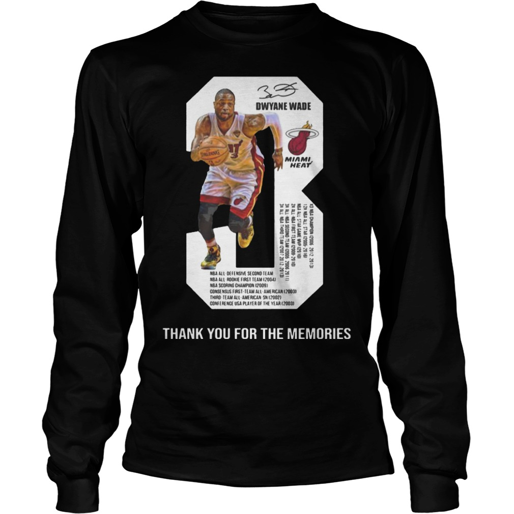 Dwyane Wade 3 Thank You For The Memories Longsleeve Tee