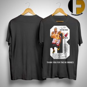 Dwyane Wade 3 Thank You For The Memories Shirt