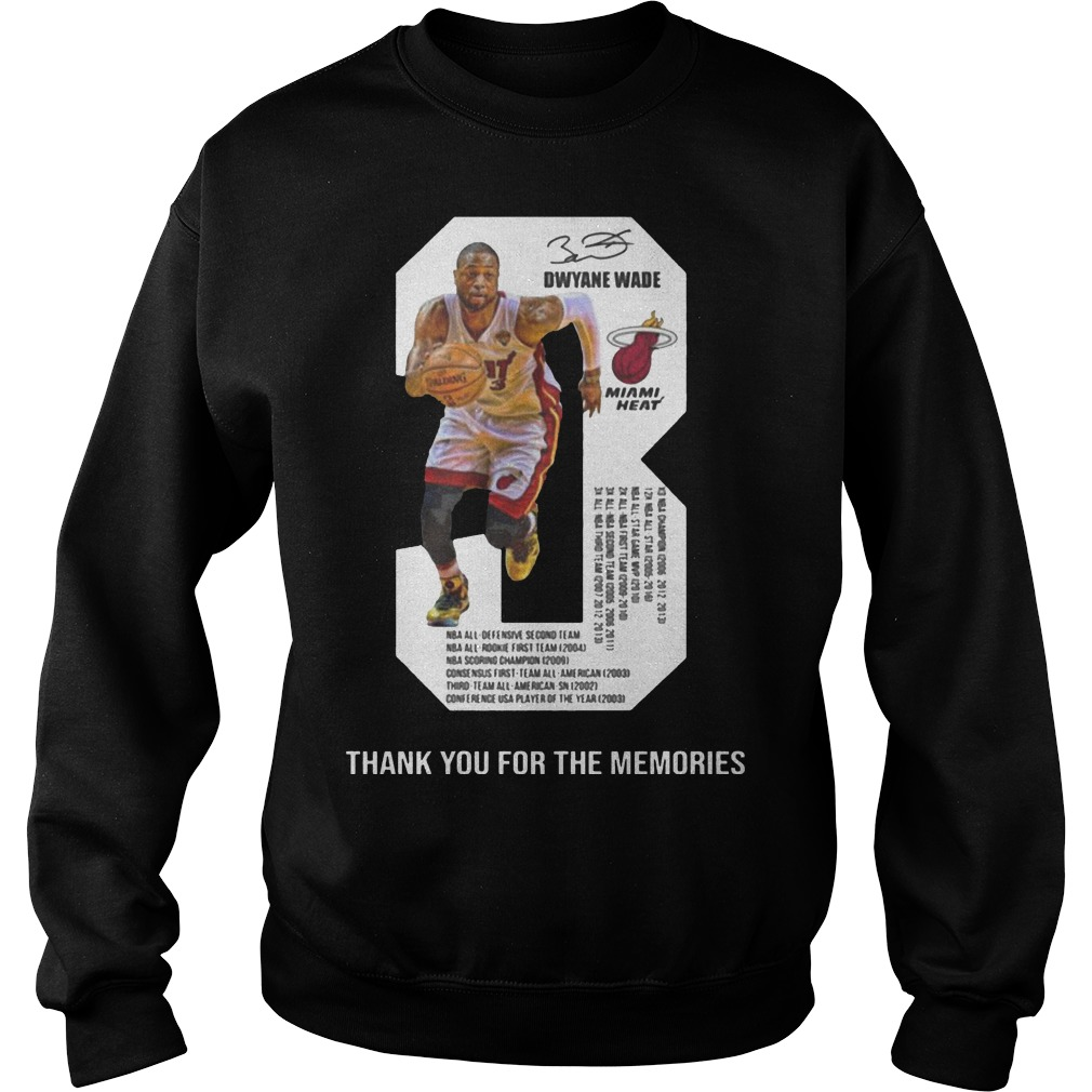 Dwyane Wade 3 Thank You For The Memories Sweater