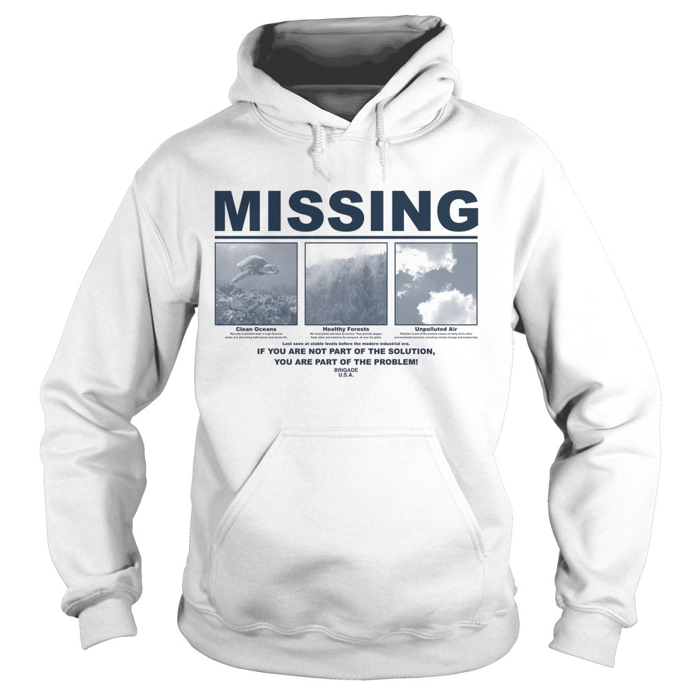 Earth Day 2019 Missing Hoodie