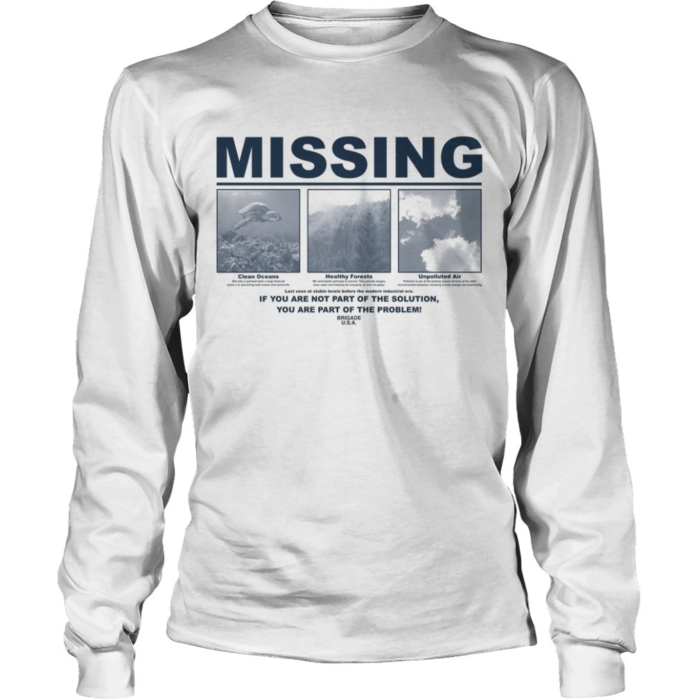 Earth Day 2019 Missing Longsleeve Tee