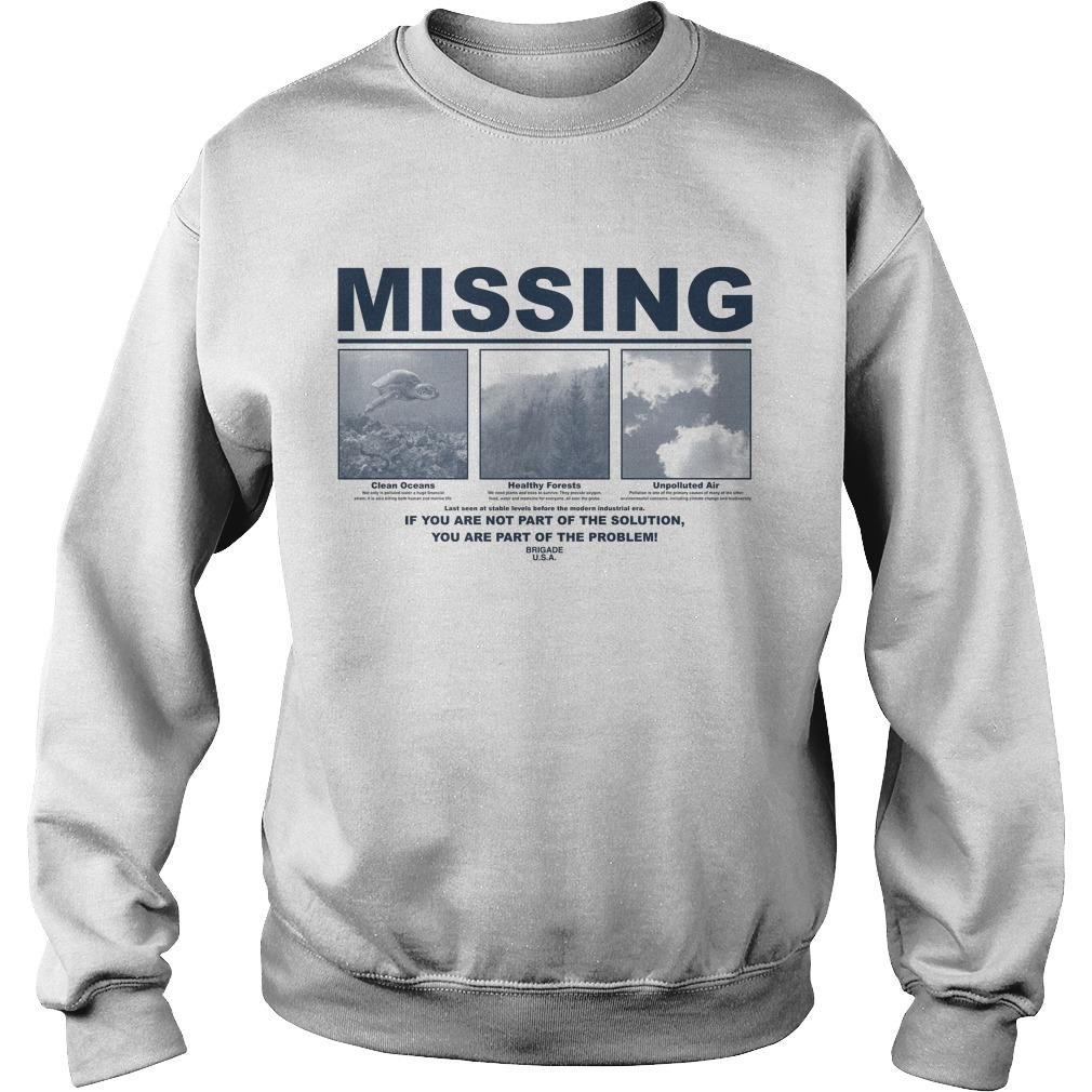 Earth Day 2019 Missing Sweater
