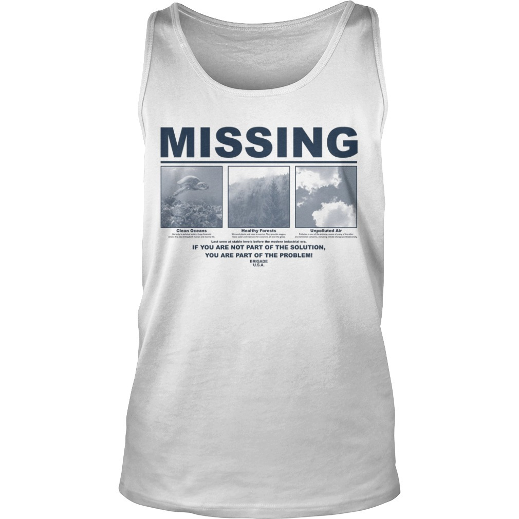 Earth Day 2019 Missing Tank Top