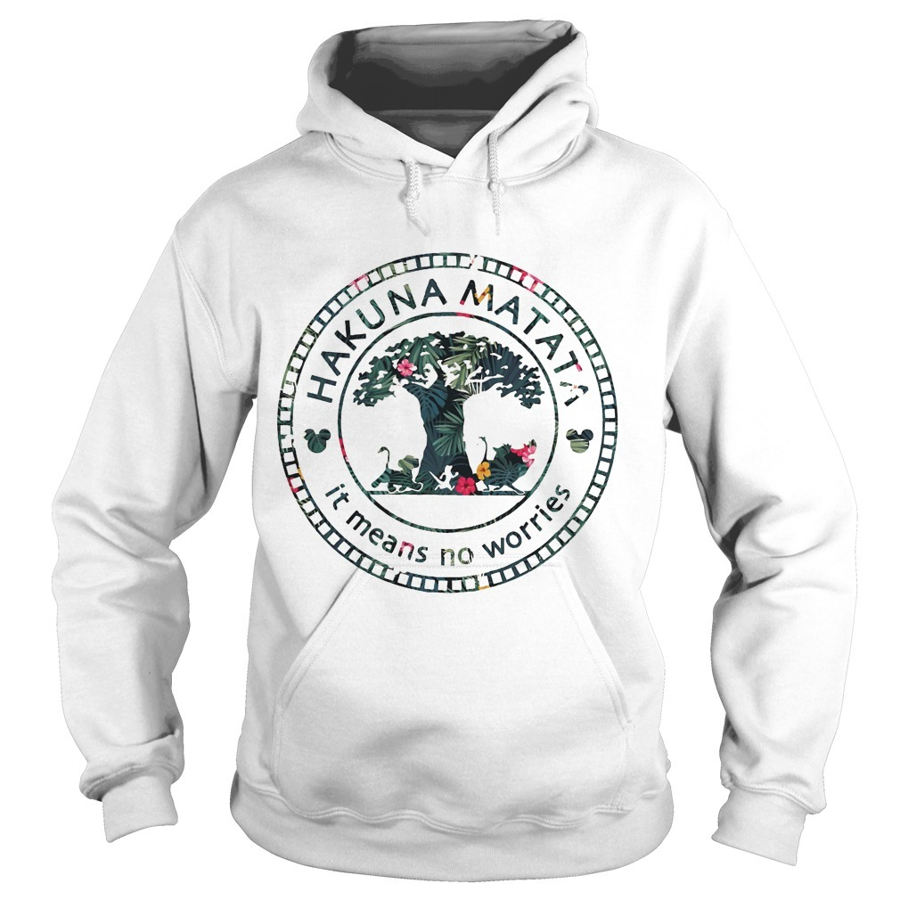 Floral Disney Hakuna Matata It Means No Worries Hoodie