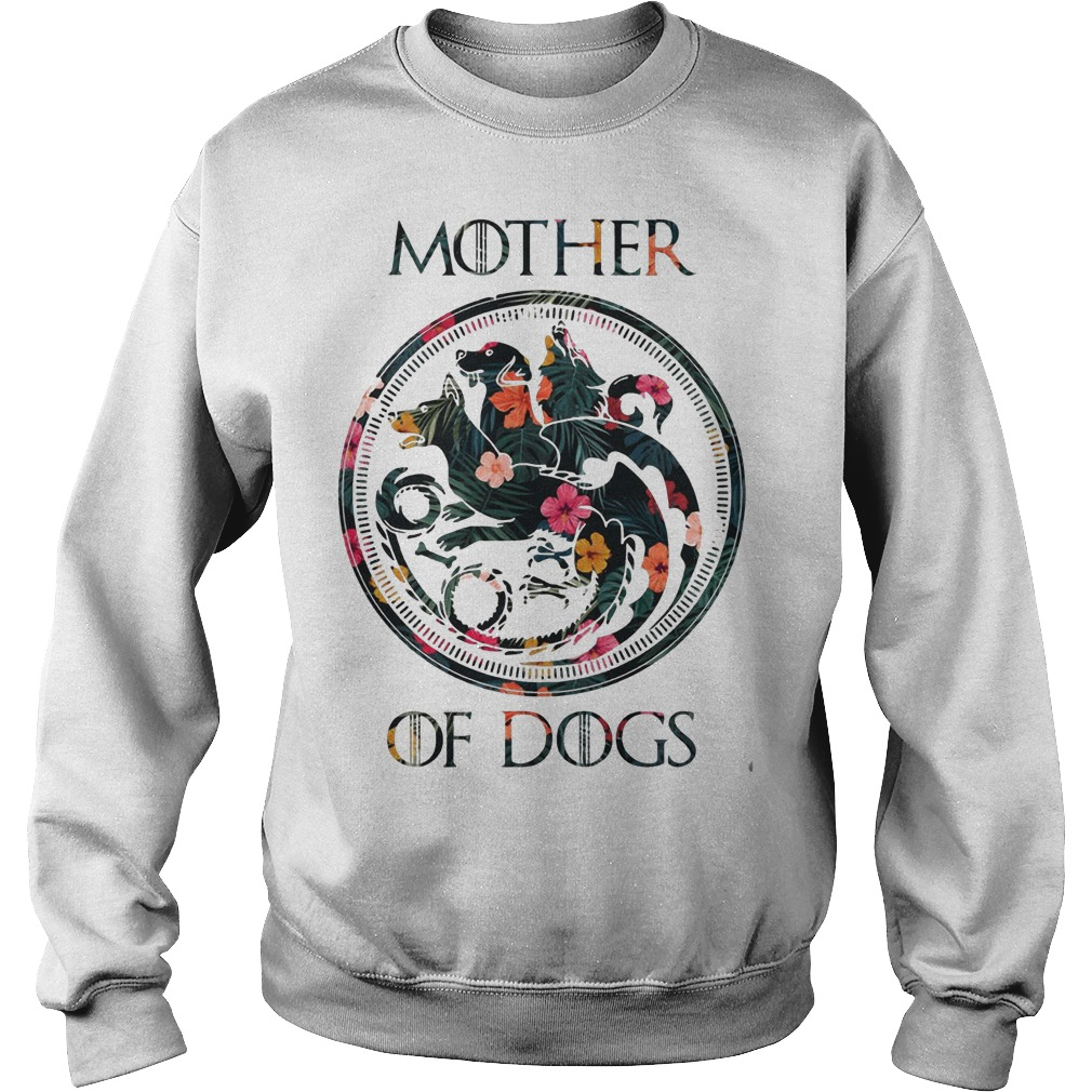 Floral Game Of Thrones Mother Of Dogs Sweater