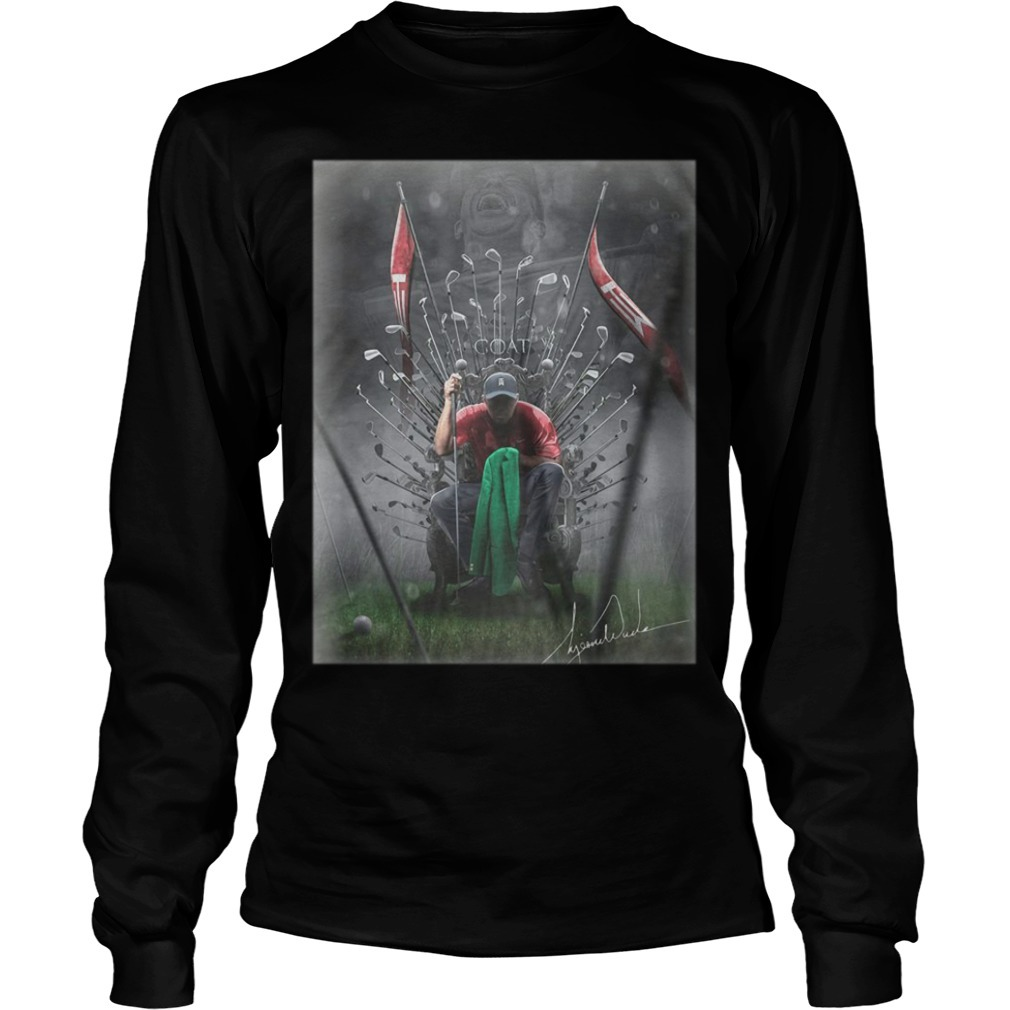 Game Of Thrones Iron Throne Tiger Woods GOAT Longsleeve Tee