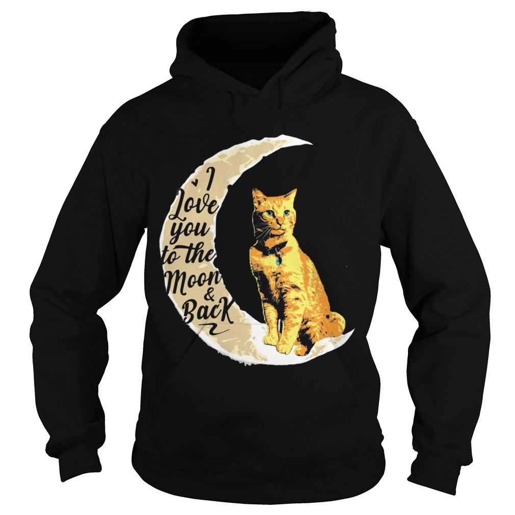 Goose Cat I Love To The Moon And Back Hoodie