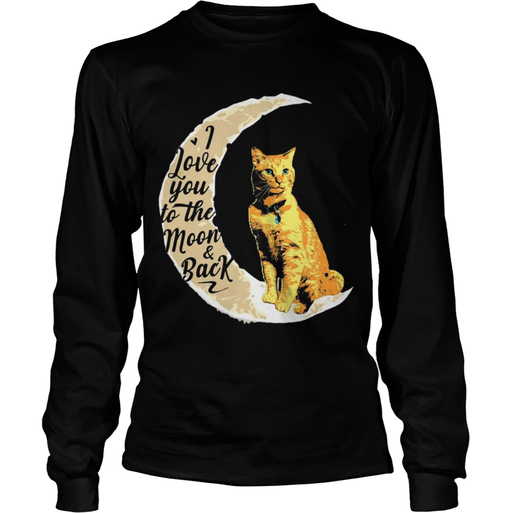 Goose Cat I Love To The Moon And Back Longsleeve Tee