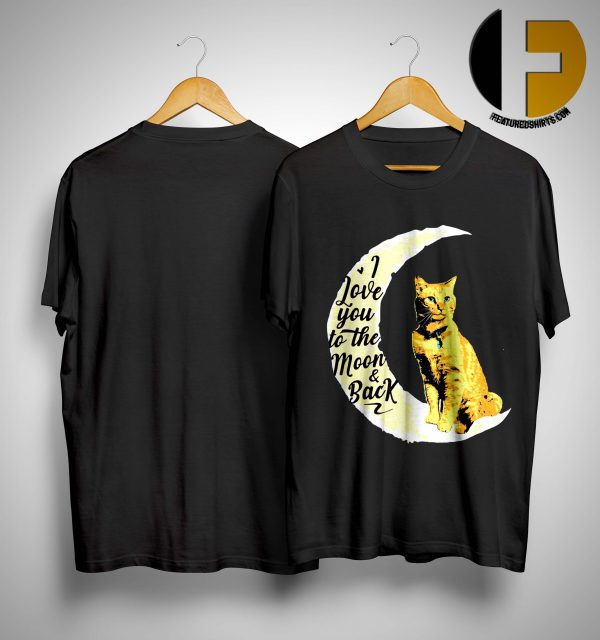Goose Cat I Love To The Moon And Back Shirt