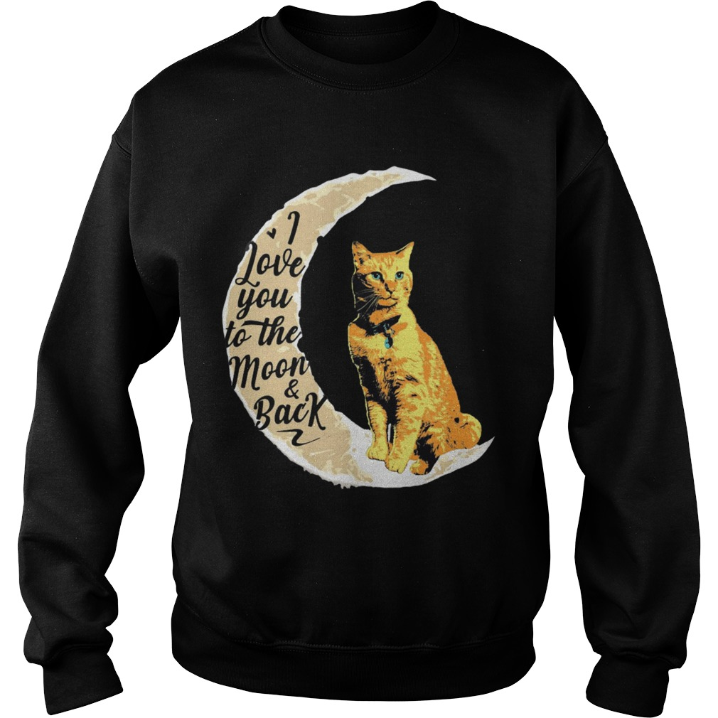 Goose Cat I Love To The Moon And Back Sweater