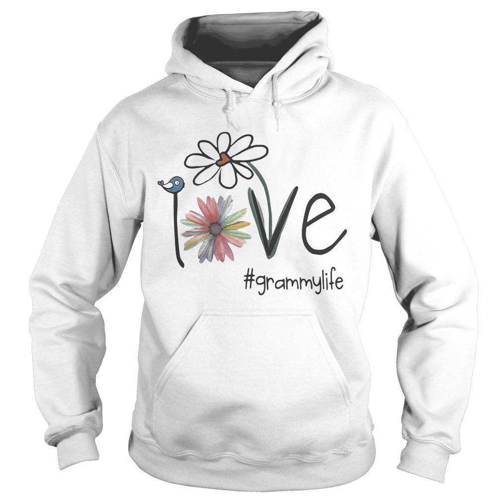 Grammy Life Bird Flower Love Hoodie