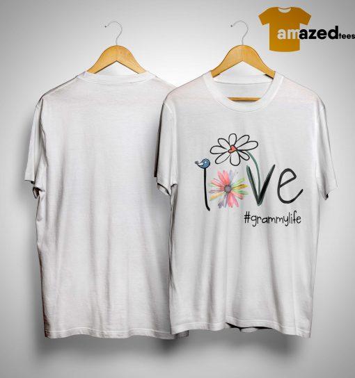 Grammy Life Bird Flower Love Shirt