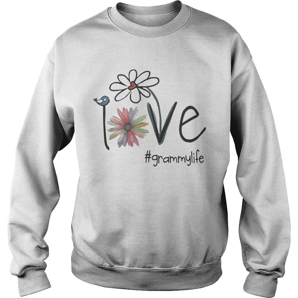 Grammy Life Bird Flower Love Sweater