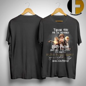 Harry Potter Thank You For The Memories 2001 2011 Shirt