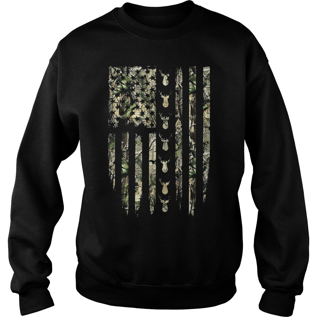 Hunting Floral Flag Sweater