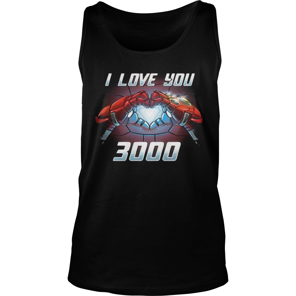 Iron Man I Love You 3000 Tank Top