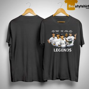 Jorge Posada Mariano Rivera Derek Jeter Bernie Williams Andy Pettitte Legends Shirt
