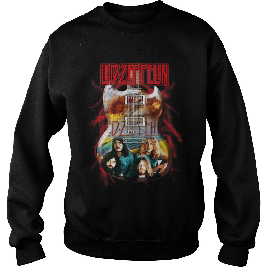 Led Zeppelin And Guitar Sweater