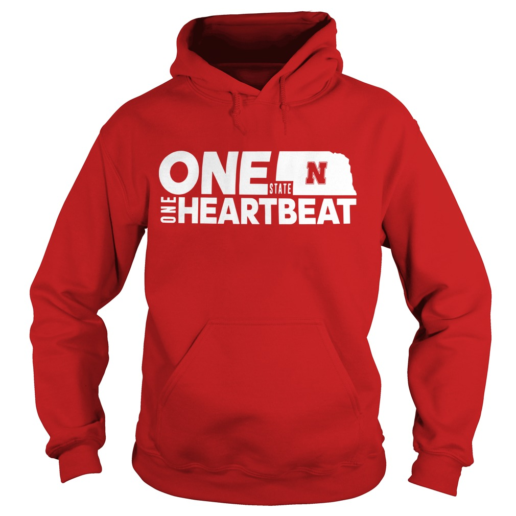 Nebraska Flood Husker One State N One Heartbeat Hoodie