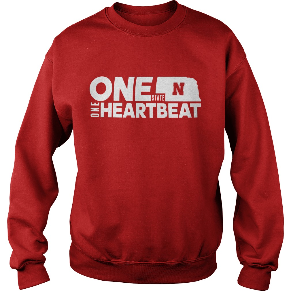Nebraska Flood Husker One State N One Heartbeat Sweater