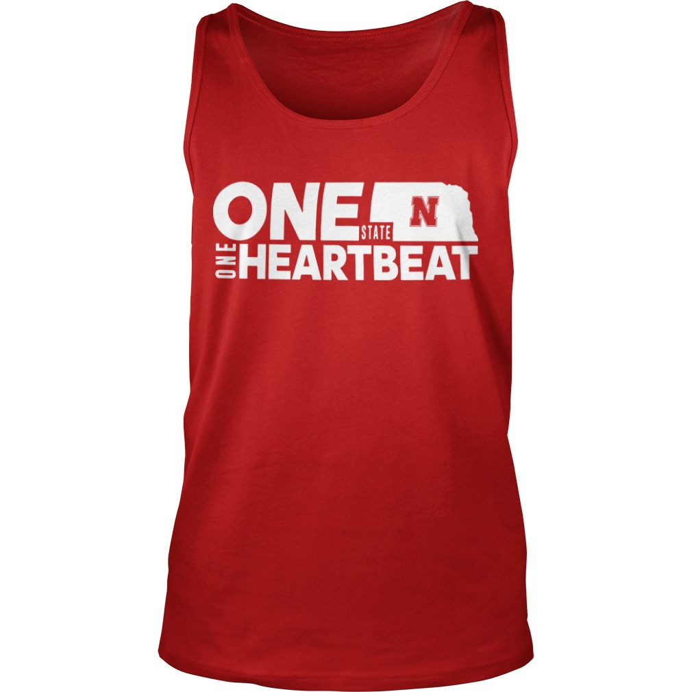 Nebraska Flood Husker One State N One Heartbeat Tank Top