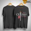October Is Coming Red Sox Game Of Thrones Shirt