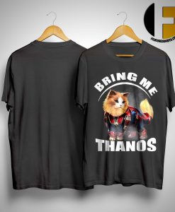 Persian Cat Wearing Star Force Costume Bring Me Thanos Shirt