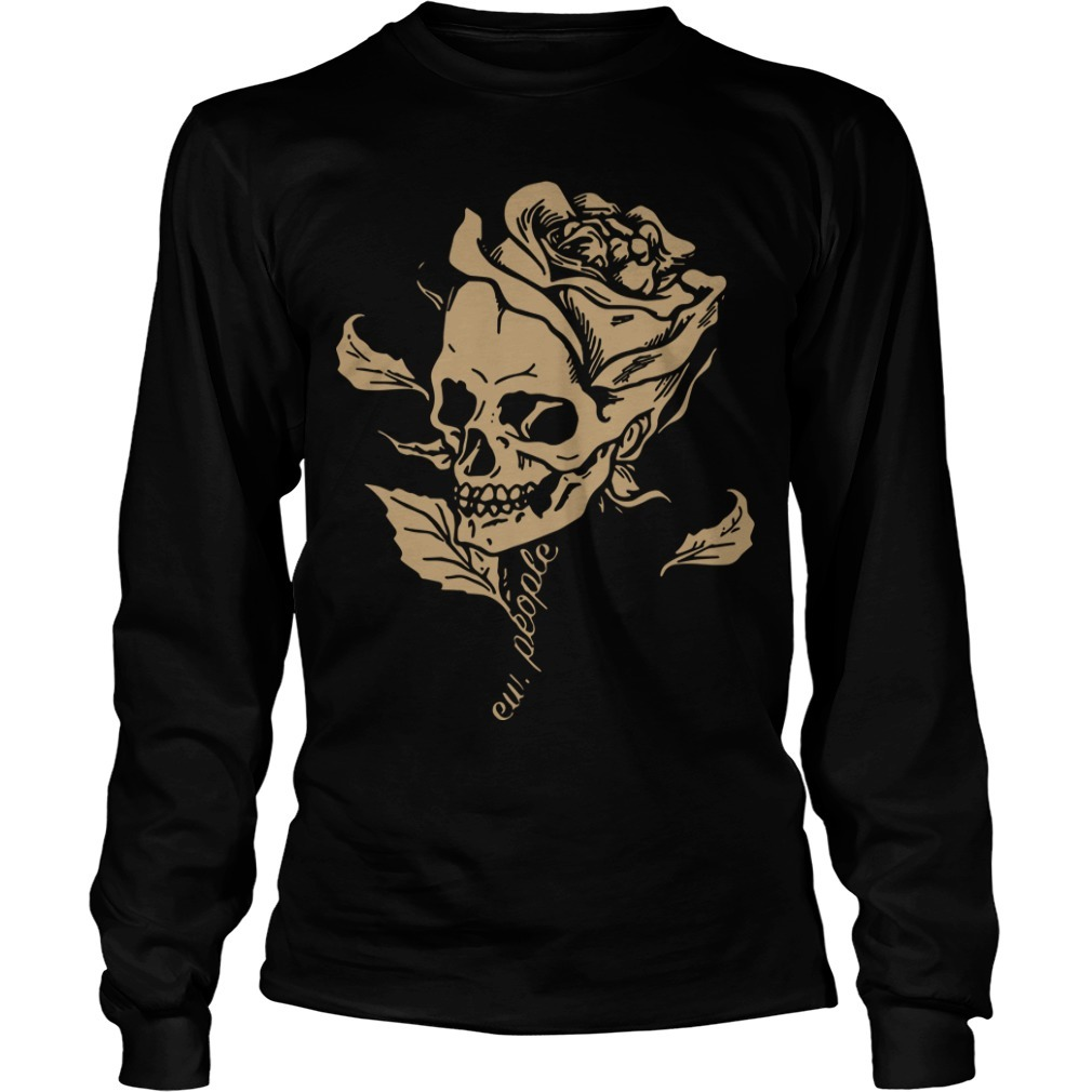 Smiling Skull Rose Ew People Longsleeve Tee