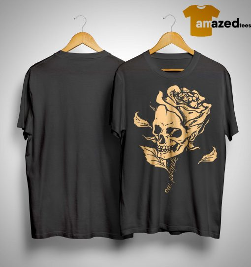 Smiling Skull Rose Ew People Shirt