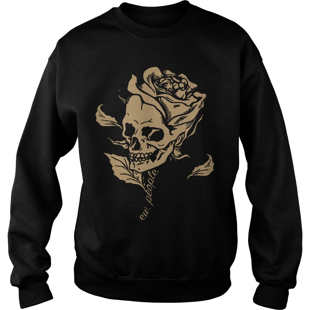 Smiling Skull Rose Ew People Sweater