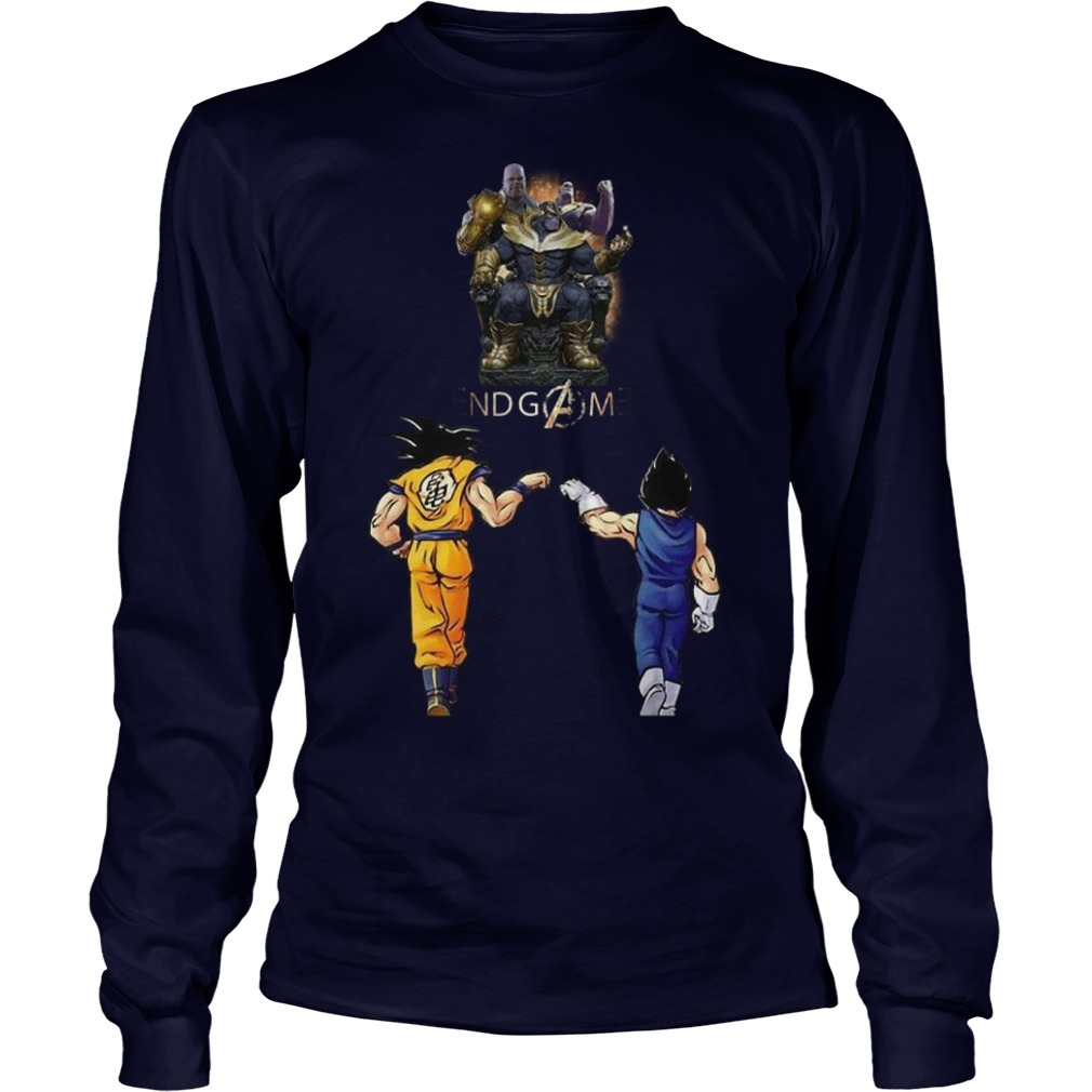 Songoku And Vegeta Endgame Thanos Longsleeve Tee