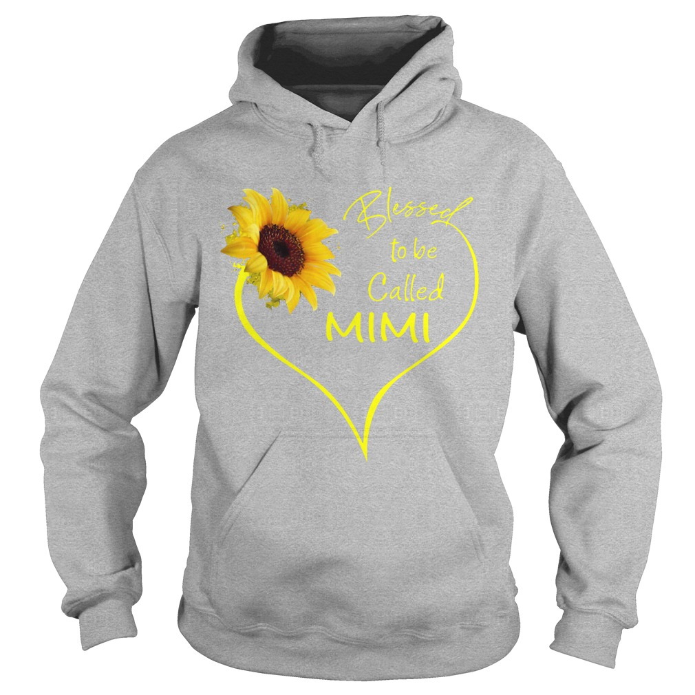 Sunflower Blessed To Be Called Mimi Hoodie