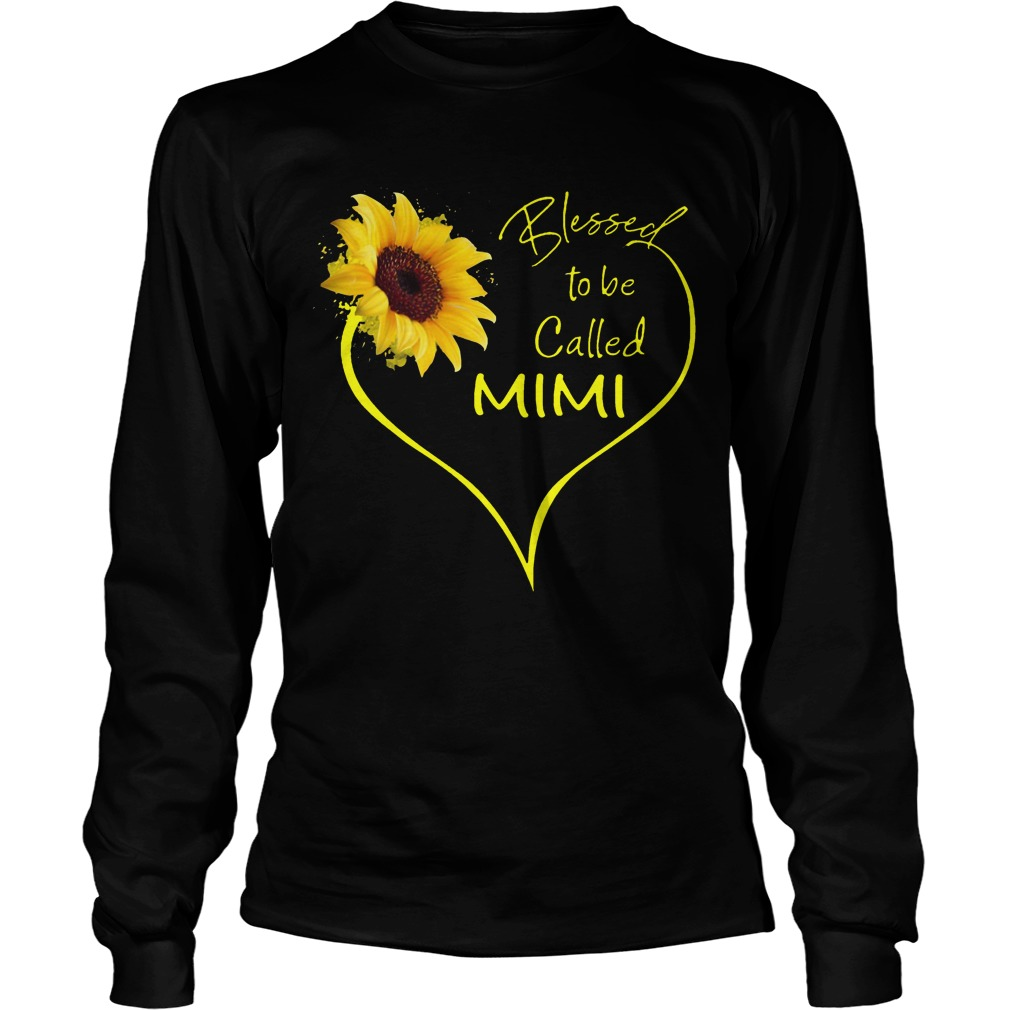 Sunflower Blessed To Be Called Mimi Longsleeve Tee