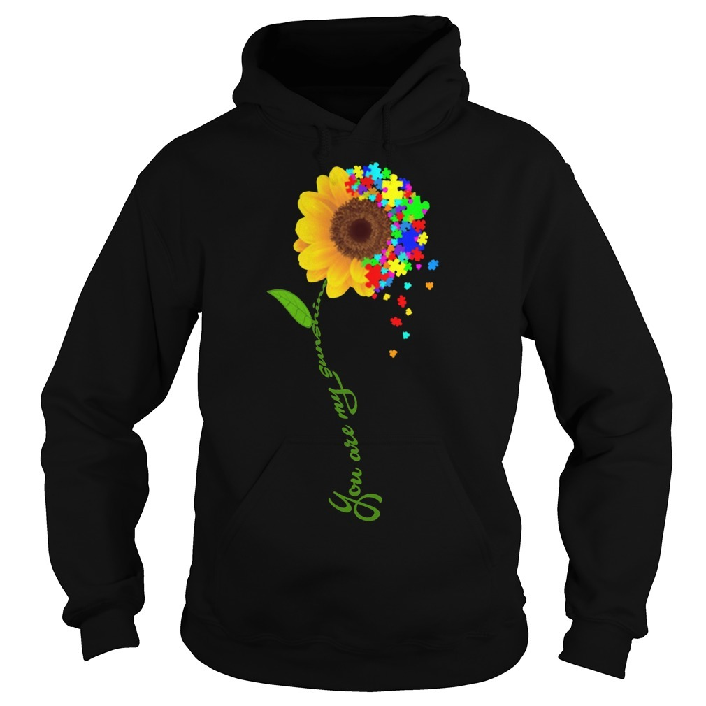 Sunflower You Are My Sunshine Autism Hoodie