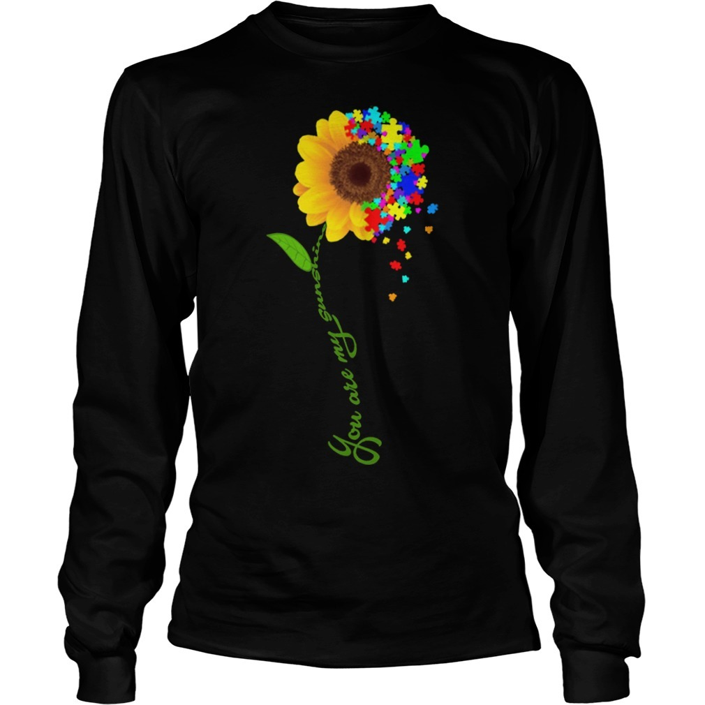 Sunflower You Are My Sunshine Autism Longsleeve Tee