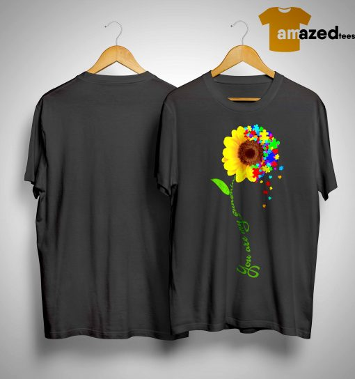 Sunflower You Are My Sunshine Autism Shirt