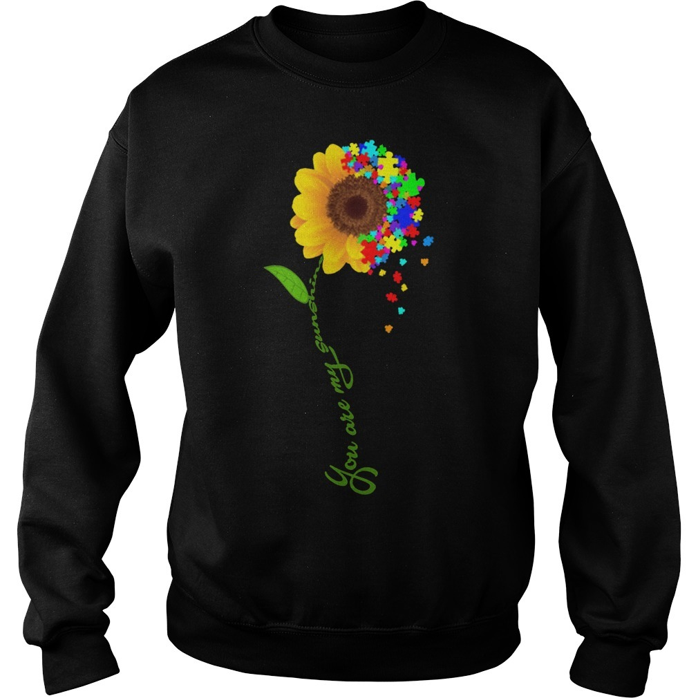 Sunflower You Are My Sunshine Autism Sweater