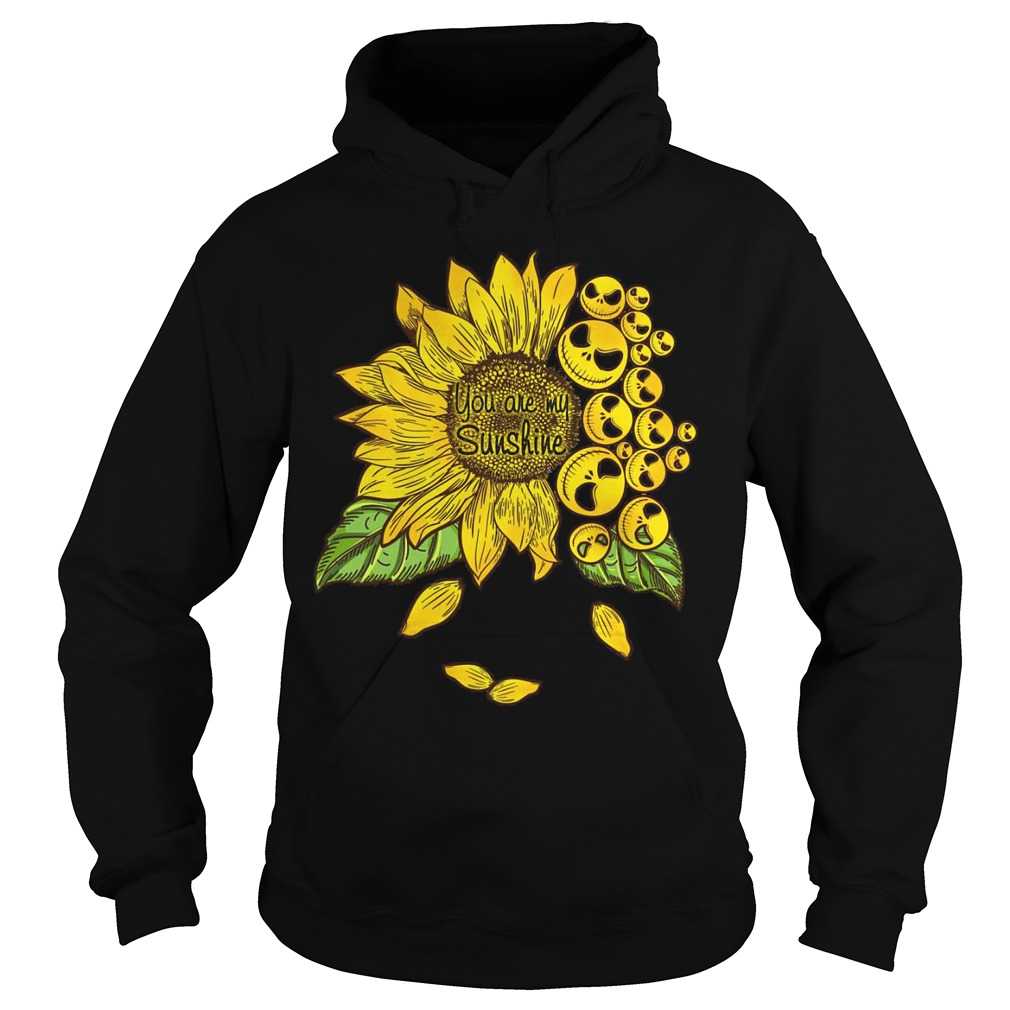Sunflower You Are My Sunshine Face Jack Skellington Hoodie