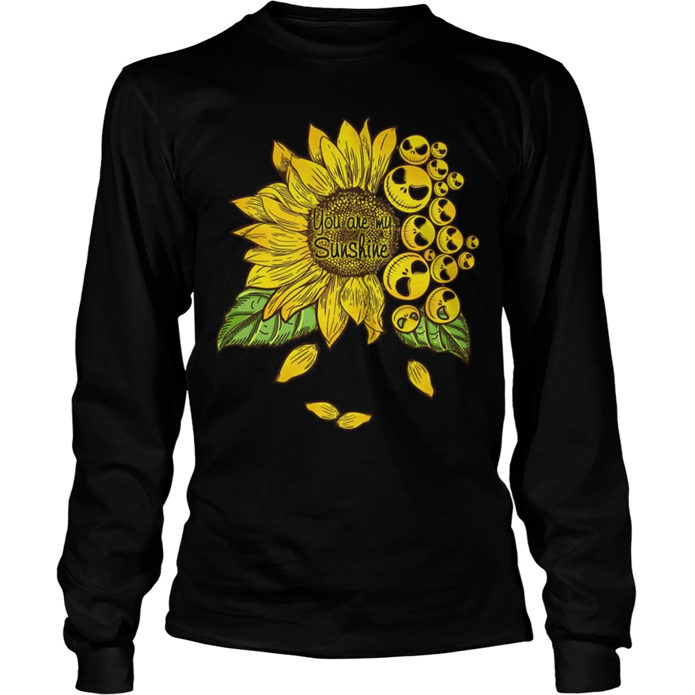 Sunflower You Are My Sunshine Face Jack Skellington Longsleeve Tee