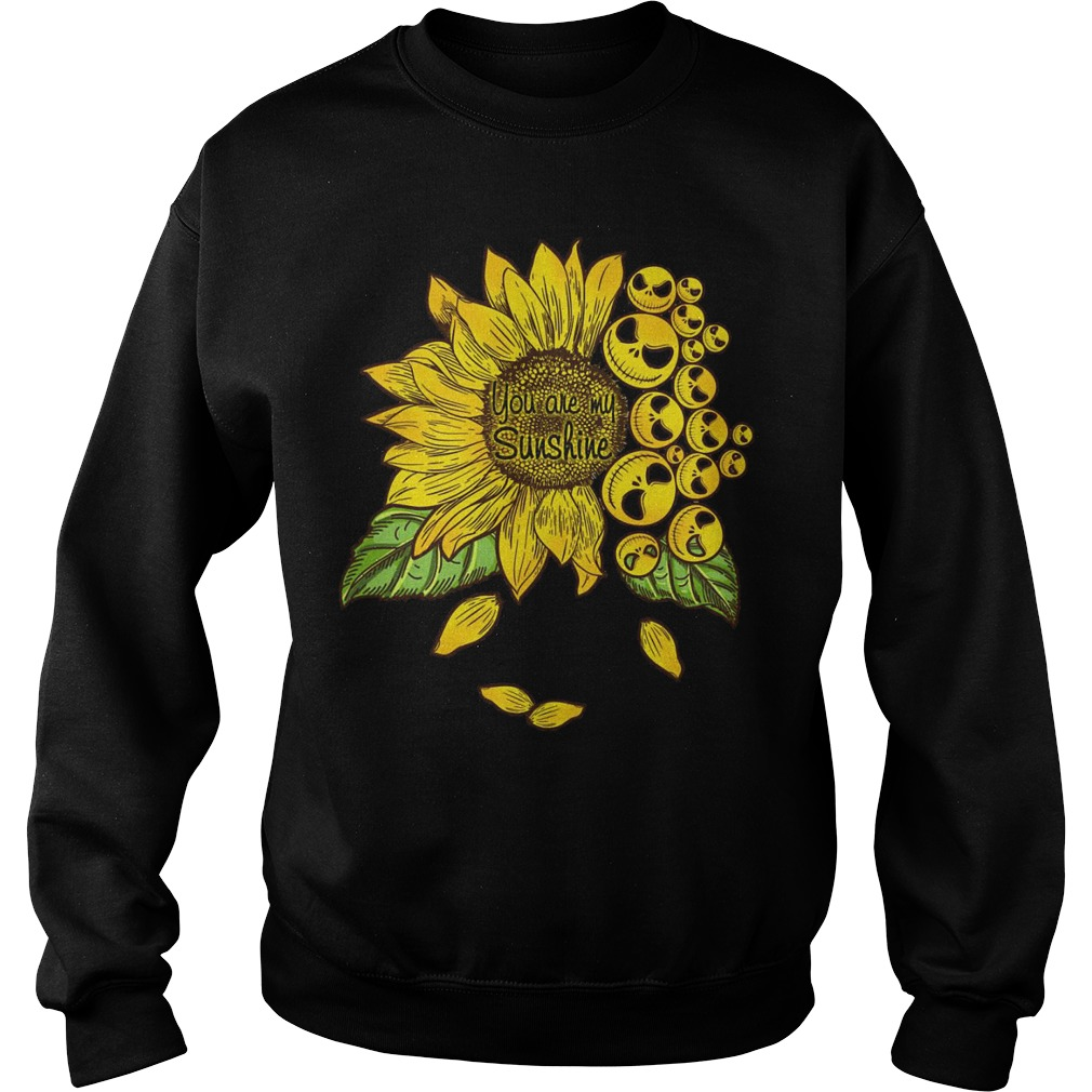 Sunflower You Are My Sunshine Face Jack Skellington Sweater