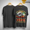 Sunset Vintage Being A Dad Is An Honor Being A Papa Is Priceless Shirt