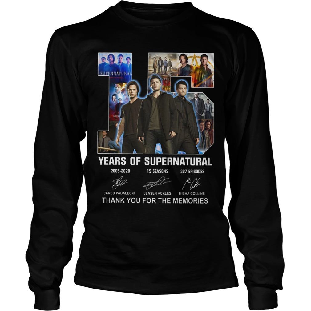 Supernatural Team 15 Years Of Supernatural Thank You For The Memories Longsleeve Tee