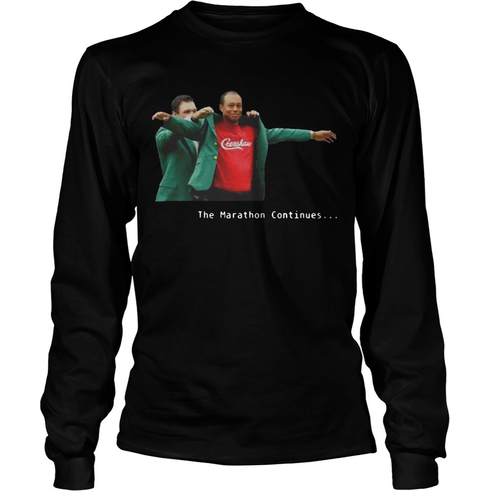 Tiger Woods Crenshaw The Marathon Continues Longsleeve Tee