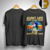 Unicorn Aunt Life Feed Them Junk And Send Them Back Vintage Shirt